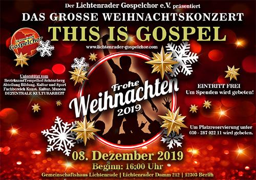 Mitsing-Konzert des Lichtenrader Gospelchors